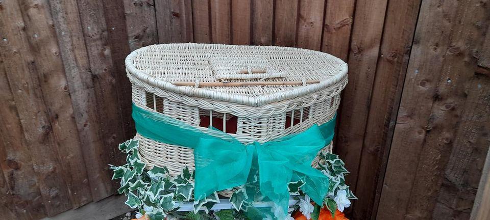 New handmade bespoke heart-shaped baskets